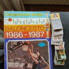 Coleccionismo deportivo: GRAN LOTE DE 138 CROMOS + ÁLBUM BALONCESTO BASKET J. MERCHANTE 86-86 1986-1987. Lote 204667780