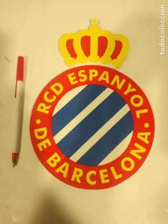 RCD ESPANYOL ESCUDO GRANDE DE MADERA FUTBOL (Coleccionismo Deportivo - Cromos otros Deportes)