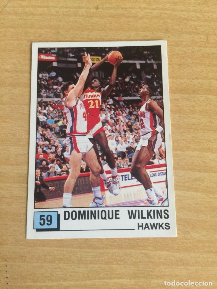 DOMINIQUE WILKINS Nº 59 PANINI NBA 90 SIN PEGAR (Coleccionismo Deportivo - Cromos otros Deportes)