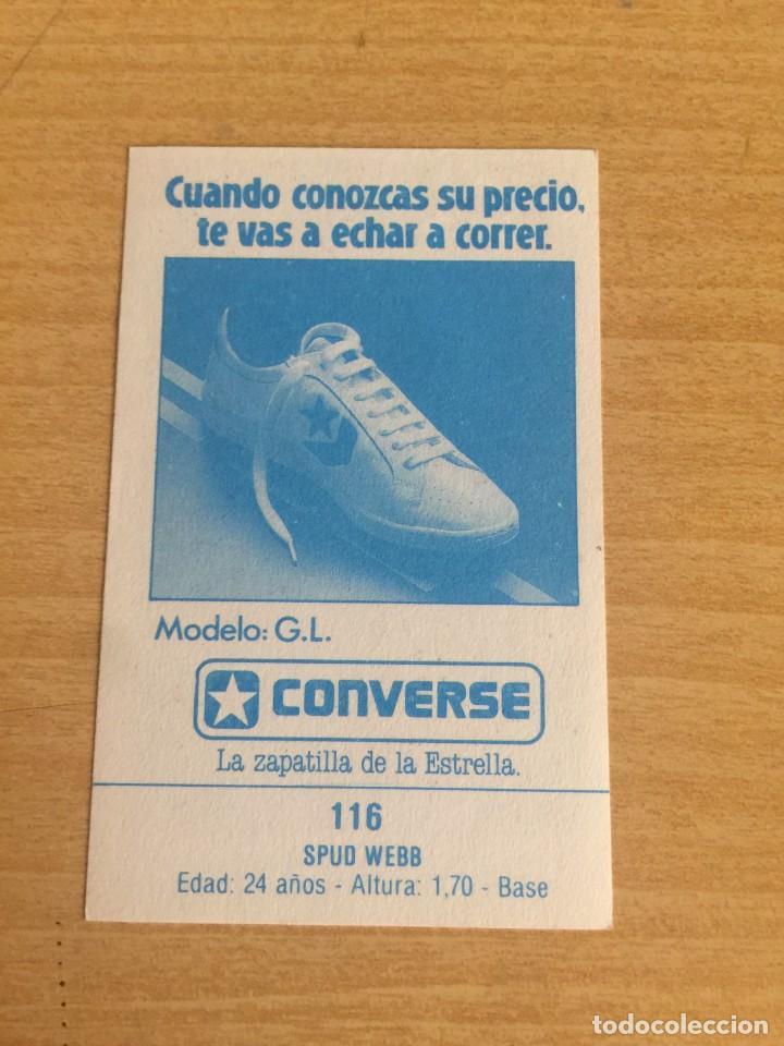 Coleccionismo deportivo: SPUD WEBB Nº 116 CONVERSE 1987 SIN PEGAR - Foto 2 - 205351031