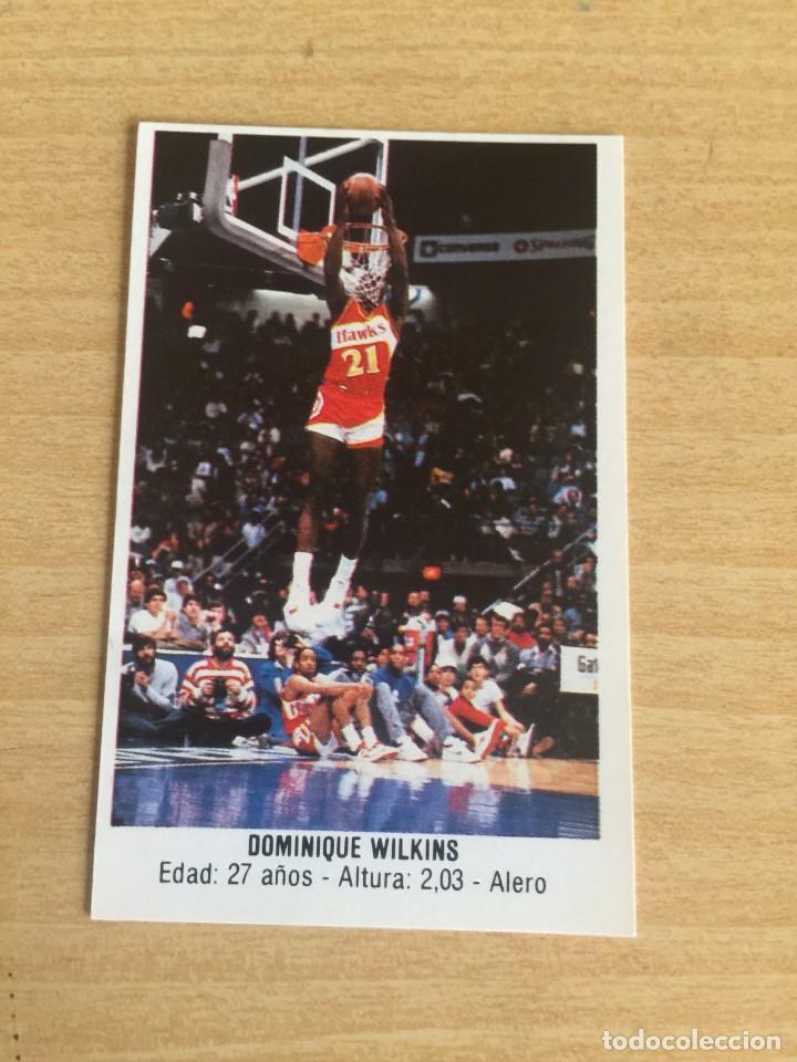 DOMINIQUE WILKINS Nº 114 CONVERSE 1987 SIN PEGAR (Coleccionismo Deportivo - Cromos otros Deportes)