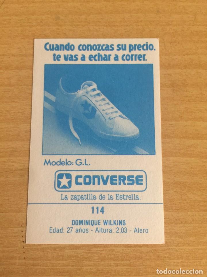 Coleccionismo deportivo: DOMINIQUE WILKINS Nº 114 CONVERSE 1987 SIN PEGAR - Foto 2 - 205351125