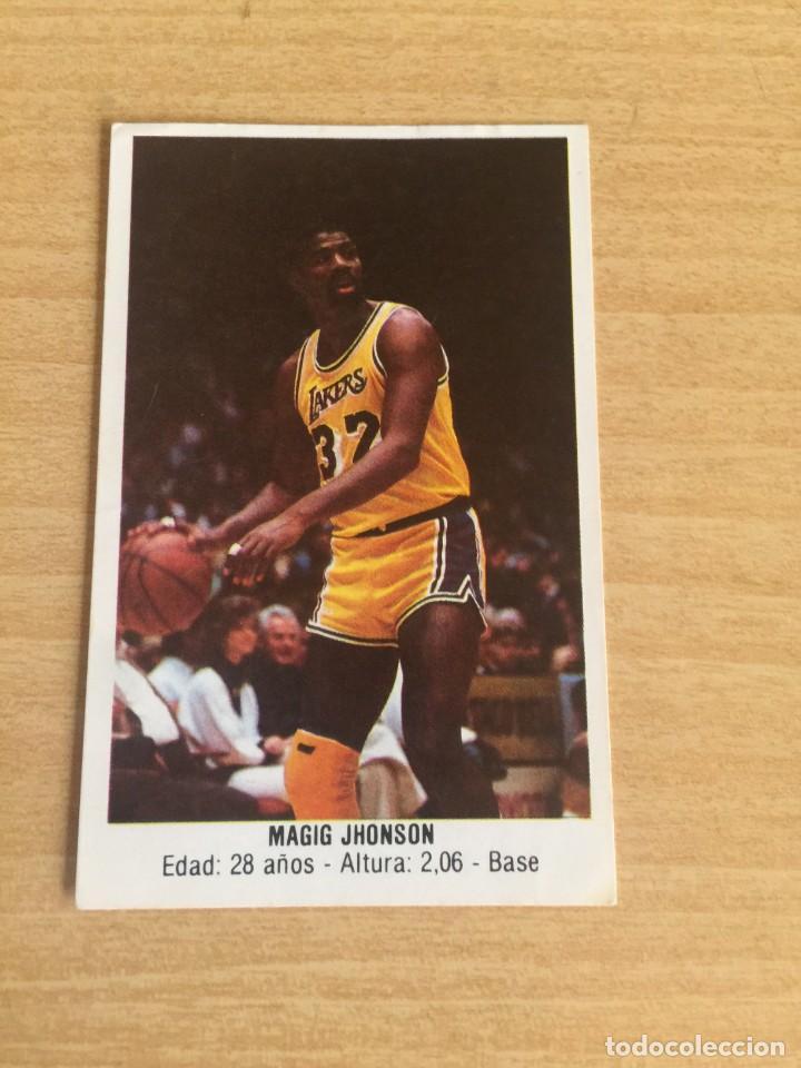 MAGIC JOHNSON Nº 132 CONVERSE 1987 SIN PEGAR (Coleccionismo Deportivo - Cromos otros Deportes)