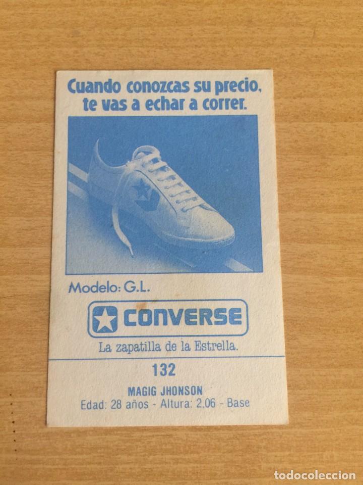Coleccionismo deportivo: MAGIC JOHNSON Nº 132 CONVERSE 1987 SIN PEGAR - Foto 2 - 205351178
