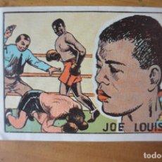 Coleccionismo deportivo: CROMO DE BOXEO JOE LOUIS. CROMOS CULTURA, 1942. NUNCA PEGADO. PERFECTO. Lote 205792945