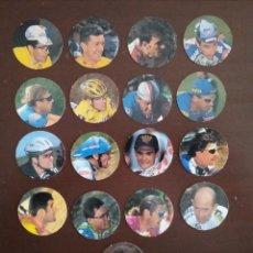 Coleccionismo deportivo: LOTE 17 CICLITAZOS TAZOS CICLISMO EL PAIS. Lote 206156431