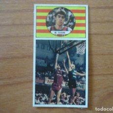 Coleccionismo deportivo: CROMO LIGA BALONCESTO 1986 1987 MERCHANTE Nº 106 MIGUEL TARIM (TDK MANRESA) TARIN - DESPEGADO 86 87. Lote 206166187