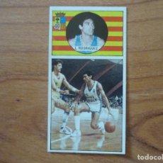 Coleccionismo deportivo: CROMO LIGA BALONCESTO 1986 1987 MERCHANTE Nº 113 LOPEZ RODRIGUEZ (MAGIA HUESCA) - DESPEGADO 86 87. Lote 206166625