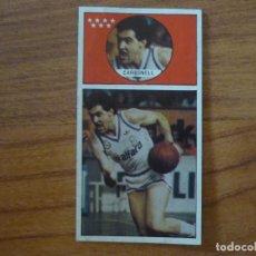 Coleccionismo deportivo: CROMO LIGA BALONCESTO 1986 1987 MERCHANTE Nº 124 CARBONELL (REAL MADRID) - DESPEGADO 86 87. Lote 206169625