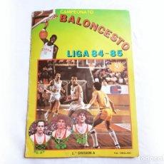 Coleccionismo deportivo: ALBUM DE CROMOS CAMPEONATO BALONCESTO LIGA 84 85 CON 129 CROMOS - CLESA. Lote 206520740