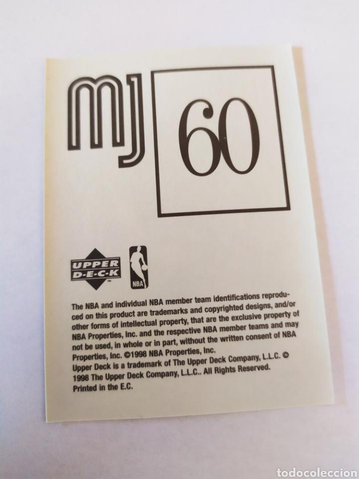 Coleccionismo deportivo: Michael Jordan 60 NBA Upper Deck 1998-99 MJ Sticker Collection Chicago Bulls - Foto 2 - 206778287