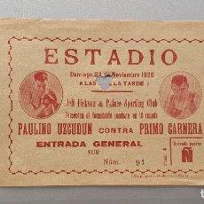 Coleccionismo deportivo: BOXEO UZCUDUN CONTRA PRIMO CARNERA. Lote 206977755