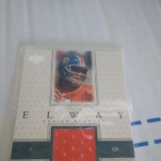 Coleccionismo deportivo: CROMO UPPER DECK JOHN ELWAY NFL CAMISETA USADA. Lote 207179638