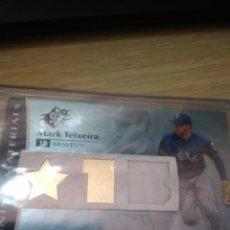 Coleccionismo deportivo: CROMO UPPER DECK TEIXEIRA MLB CAMISETA. Lote 207203078