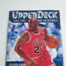Coleccionismo deportivo: ALBUM CROMOS NBA UPPER DECK 1996-1997 FALTAN 14 DE 186. Lote 207210095