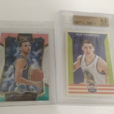 Coleccionismo deportivo: LOTE NBA CURRY PANINI SELECT + THOMPSON ROOKIE 9.5 BECKETT. Lote 207263765