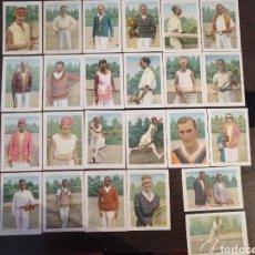 Coleccionismo deportivo: COLECCION COMPLETA TENISTAS FAMOSOS CHOCOLATES AMATLLER 24 CROMOS. Lote 207273875
