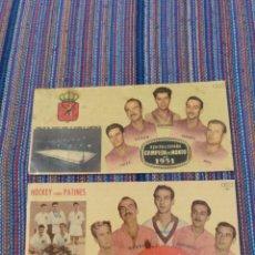 Coleccionismo deportivo: HOCKEY PATINES ESPAÑA CAMPEONA DEL MUNDO 1951 Y 1954 CHOCOLATES BATANGA. Lote 207277607