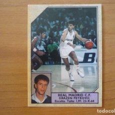 Coleccionismo deportivo: CROMO CONVERSE BALONCESTO 1988 89 Nº 114 DRAZEN PETROVIC (REAL MADRID) - SIN PEGAR - BASKET 1988 89. Lote 210462226