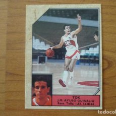 Coleccionismo deportivo: CROMO CONVERSE BALONCESTO 1988 89 Nº 149 AYUSO (TDK MANRESA) - BASKET 1988 89. Lote 210462535
