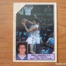 Coleccionismo deportivo: CROMO CONVERSE BALONCESTO 1988 89 Nº 183 PEP CARGOL (REAL MADRID) FICHAJE - BASKET 1988 89. Lote 210462892