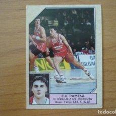 Coleccionismo deportivo: CROMO CONVERSE BALONCESTO 1988 89 Nº 187 IÑIGUEZ DE HEREDIA PAMESA VALENCIA FICHAJE - BASKET 1988 89. Lote 210463038