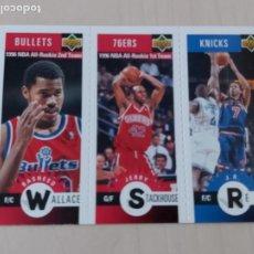 Coleccionismo deportivo: TRIPLE CROMO WALLACE , STACKHOUSE Y REID - NBA 96/97 ALL STAR. Lote 210562765