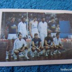 Coleccionismo deportivo: CROMO DE BALONCESTO - Nº 153 PLANTILLA REAL MADRID -LIGA 84 - 85 EDITORIAL EUROCROM - SIN PEGAR. Lote 210567322
