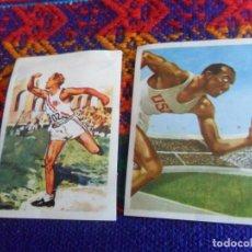 Collezionismo sportivo: CROMO NUNCA PEGADO LOS JUEGOS OLÍMPICOS 108 JOHN ANDERSON 116 JESSE OWENS. NESTLÉ 1964. MBE.. Lote 217987165