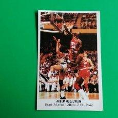 Coleccionismo deportivo: OLAJUWON 1987 MERCHANTE SIN PEGAR. Lote 218272471