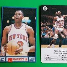 Coleccionismo deportivo: PAT EWING CARD Y STICKER SIN PEGAR. Lote 218272573