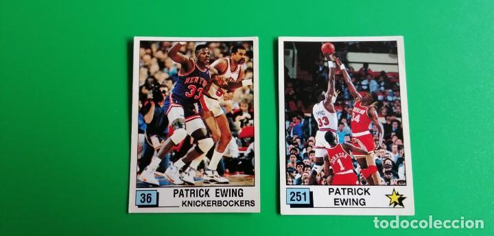 PAT EWING NBA 90 PANINI SIN PEGAR 2 STICKERS (Coleccionismo Deportivo - Cromos otros Deportes)