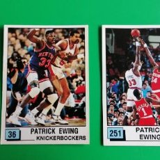 Coleccionismo deportivo: PAT EWING NBA 90 PANINI SIN PEGAR 2 STICKERS. Lote 218272673