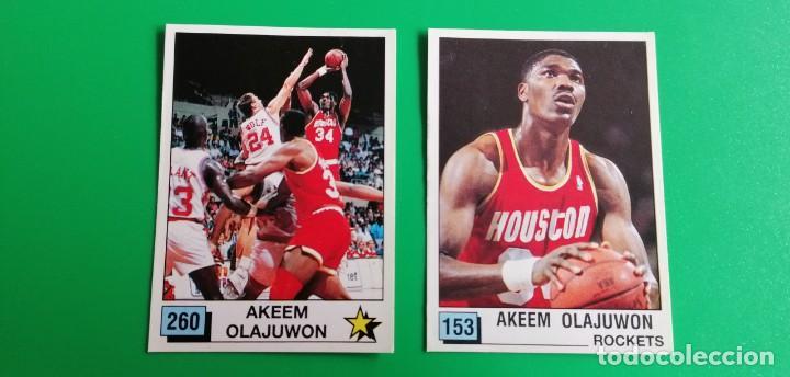 OLAJUWON NBA 90 PANINI SIN PEGAR 2 STICKERS (Coleccionismo Deportivo - Cromos otros Deportes)