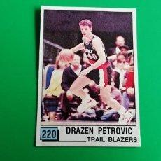 Coleccionismo deportivo: DRAZEN PETROVIC ROOKIE STICKER NBA 90 PANINI SIN PEGAR. Lote 218272781