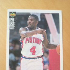 Coleccionismo deportivo: JOE DUMARS CARD NBA UPPER DECK COLLECTOR'S CHOICE #104 PISTONS 1994. Lote 219029820