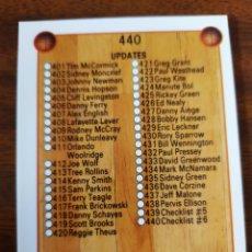 Collezionismo sportivo: CHECKLIST 440 NBA HOOPS 1990-91. Lote 220364511