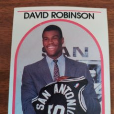 Coleccionismo deportivo: DAVID ROBINSON 138 NBA HOOPS 1989-90 SAN ANTONIO SPURS RC ROOKIE CARD. Lote 234941995
