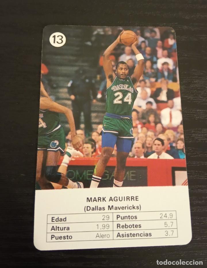 -ESTRELLAS DE LA NBA 1988 : MARK AGUIRRE ( DALLAS MAVERICKS ) (Coleccionismo Deportivo - Cromos otros Deportes)