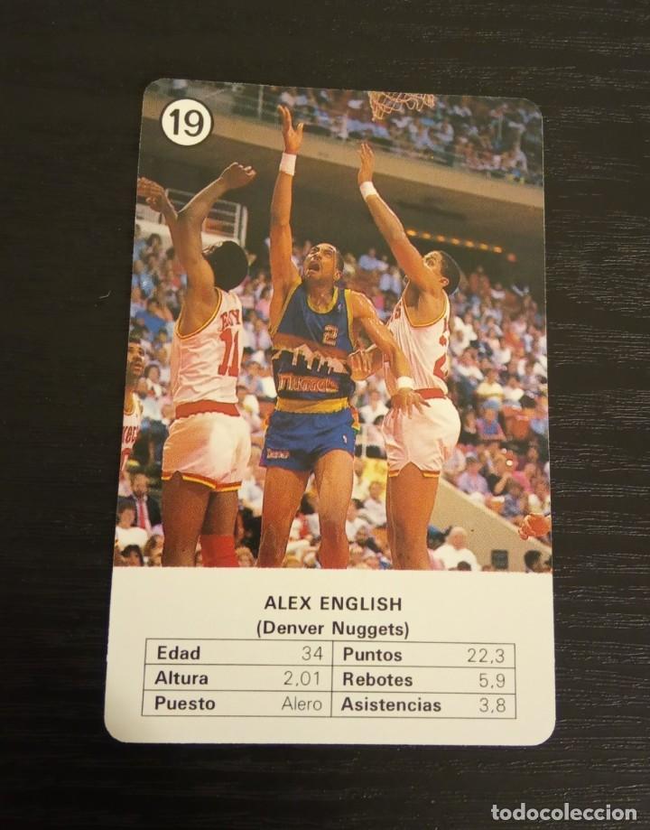 -ESTRELLAS DE LA NBA 1988 : ALEX ENGLISH ( DENVER NUGGETS ) (Coleccionismo Deportivo - Cromos otros Deportes)