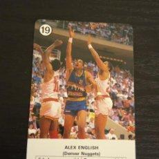 Coleccionismo deportivo: -ESTRELLAS DE LA NBA 1988 : ALEX ENGLISH ( DENVER NUGGETS ). Lote 221624655