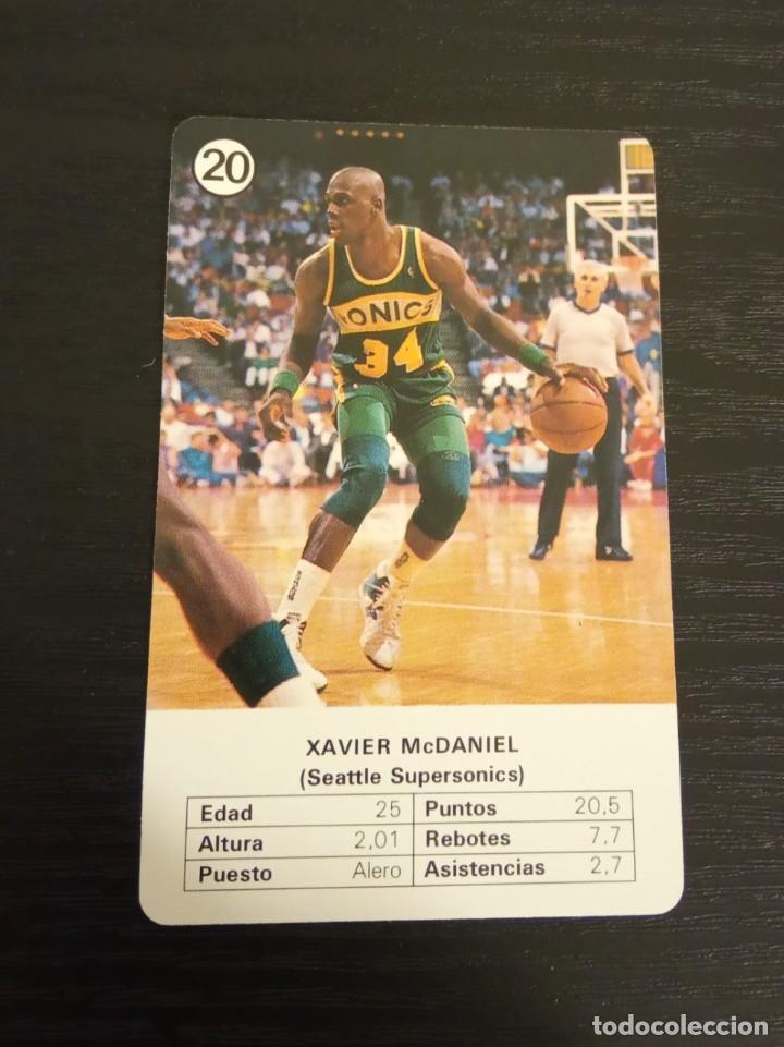 -ESTRELLAS DE LA NBA 1988 : XAVIER MCDANIEL ( SEATTLE SUPERSONICS ) (Coleccionismo Deportivo - Cromos otros Deportes)
