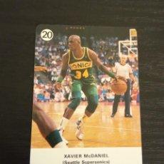 Coleccionismo deportivo: -ESTRELLAS DE LA NBA 1988 : XAVIER MCDANIEL ( SEATTLE SUPERSONICS ). Lote 221624687