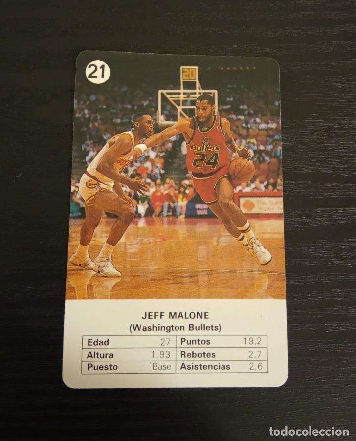 -ESTRELLAS DE LA NBA 1988 : JEFF MALONE ( WASHINGTON BULLETS ) (Coleccionismo Deportivo - Cromos otros Deportes)