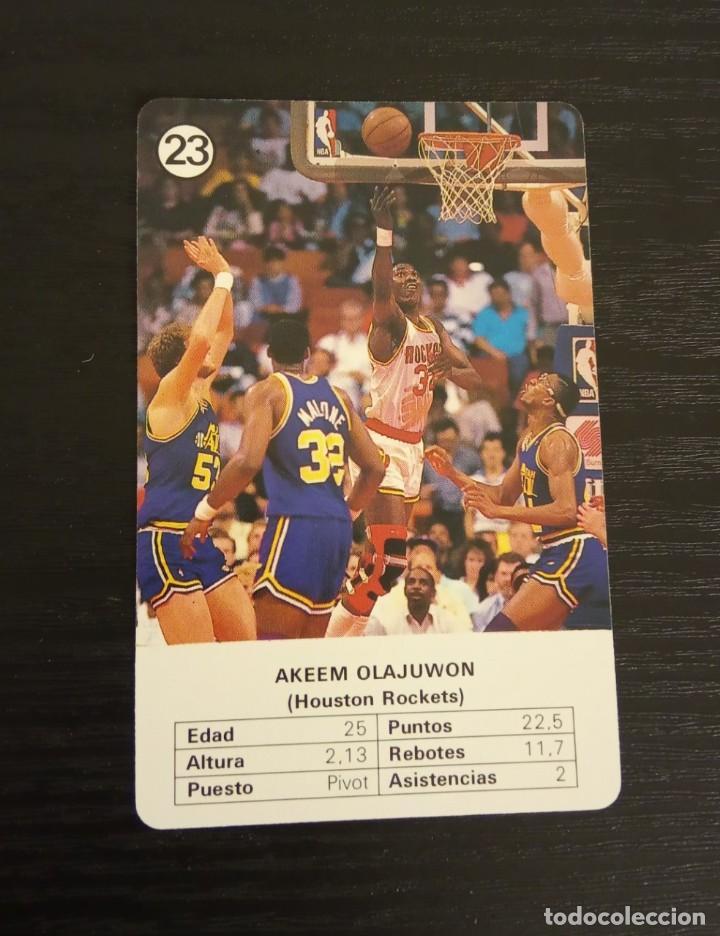 -ESTRELLAS DE LA NBA 1988 : AKEEM OLAJUWON ( HOUSTON ROCKETS ) (Coleccionismo Deportivo - Cromos otros Deportes)