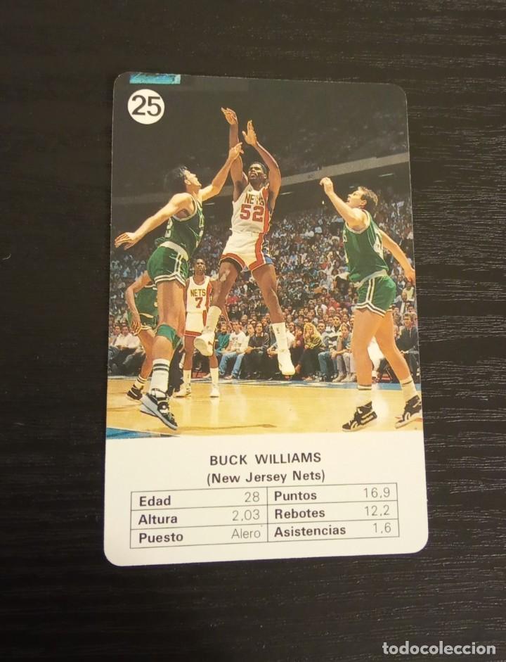 -ESTRELLAS DE LA NBA 1988 : BUCK WILLIAMS ( NEW JERSEY NETS ) (Coleccionismo Deportivo - Cromos otros Deportes)
