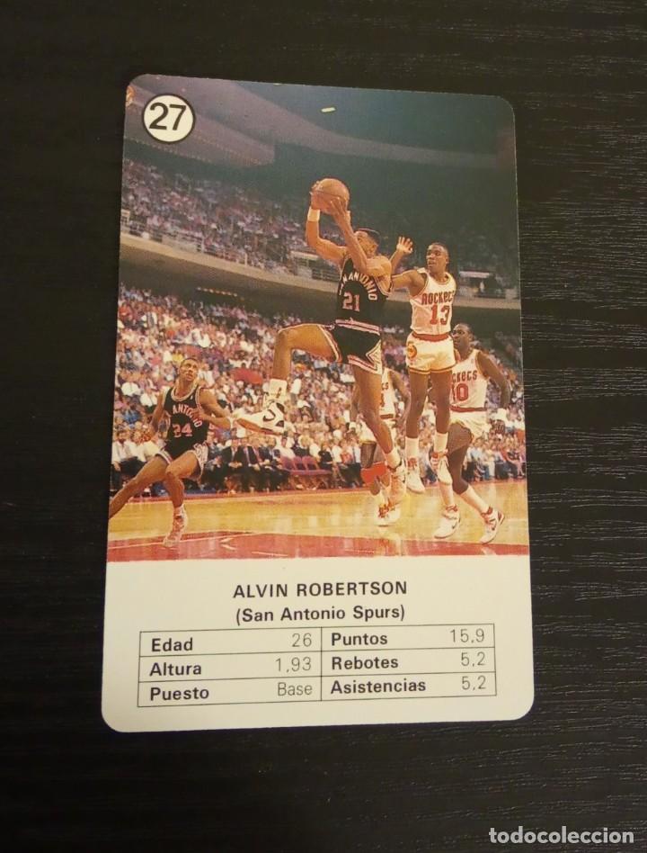 -ESTRELLAS DE LA NBA 1988 : ALVIN ROBERTSON ( SAN ANTONIO SPURS ) (Coleccionismo Deportivo - Cromos otros Deportes)