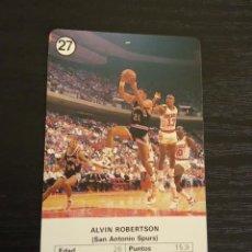 Coleccionismo deportivo: -ESTRELLAS DE LA NBA 1988 : ALVIN ROBERTSON ( SAN ANTONIO SPURS ). Lote 221624988