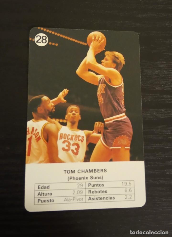 -ESTRELLAS DE LA NBA 1988 : TOM CHAMBERS ( PHOENIX SUNS ) (Coleccionismo Deportivo - Cromos otros Deportes)