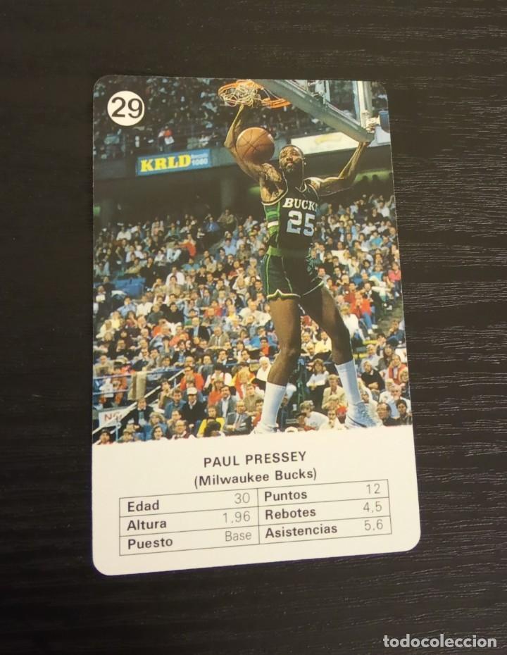 -ESTRELLAS DE LA NBA 1988 : PAUL PRESSEY ( MILWAUKEE BUCKS ) (Coleccionismo Deportivo - Cromos otros Deportes)
